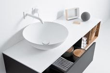 Quattro Zero washbasin and cabinets by Falper
