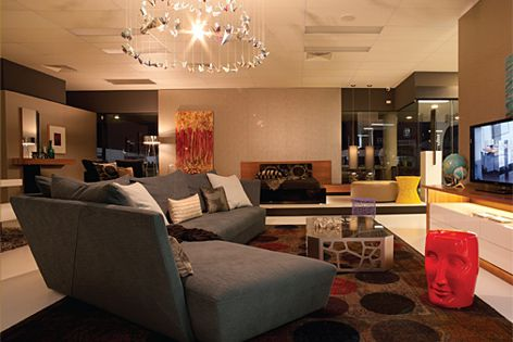 The Origami sofa in the Ultimo Interiors showroom.