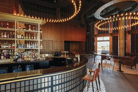 Westward by Buchan, shortlisted in the Best Bar Design category. Photography: Jonathan VDK.