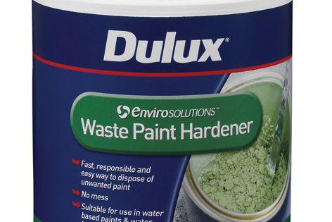 Envirosolutions waste paint hardener readies paint for convenient disposal.