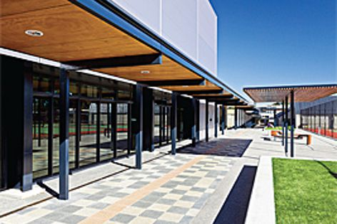 Adbri Masonry's Euro pavers with a honed finish were used at Wesley College in Victoria.