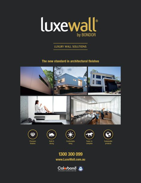 Luxewall wall solutions by Bondor