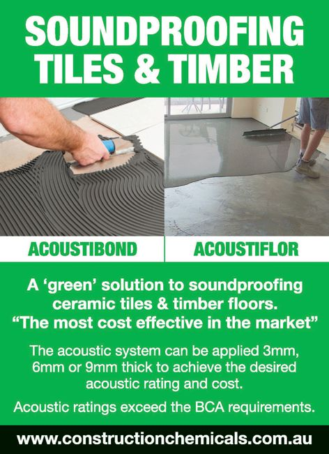 Soundproofing by Construction Chemicals