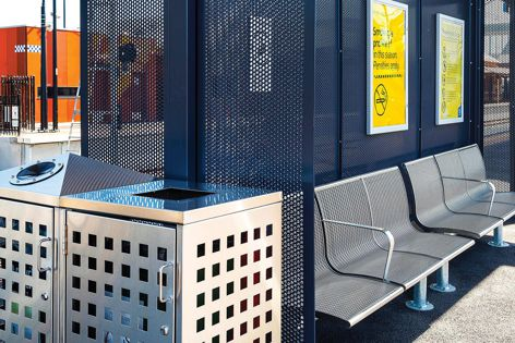 Stoddart Perforated products are ideal for outdoor furniture and screening.