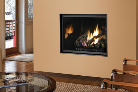 The clean face design still allows convection heat to exit the fireplace so that its heating ability is not affected.