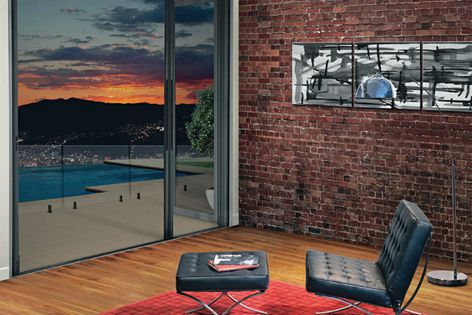 Smooth-running Hawkesbury Plus E2 and E3 screens are specially designed for multifold doors.