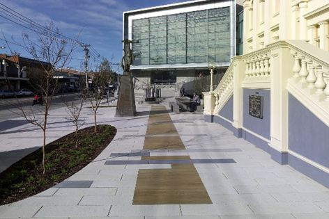 Port Phillip specified Stonevue pavers to rejuvenate St Kilda Town Hall.