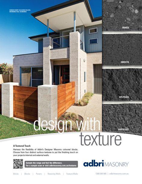 Designer Masonry coloured blocks by Adbri Masonry