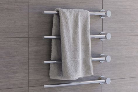 Functional and stylish, the Vola towel warmer is designed to suit any bathroom.