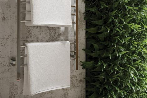 Bathroom Butler heated towel rails add to the aesthetic appealof the bathroom. They are available from Bathe.