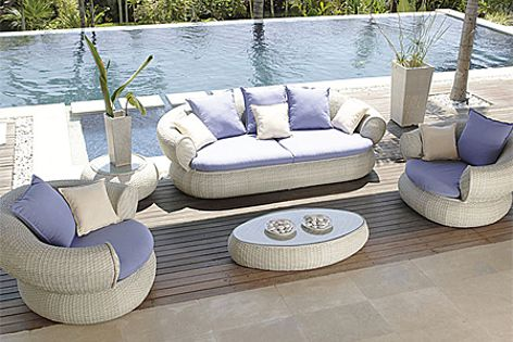 Sunbrella outdoor fabrics can be used for upholstery and other applications.