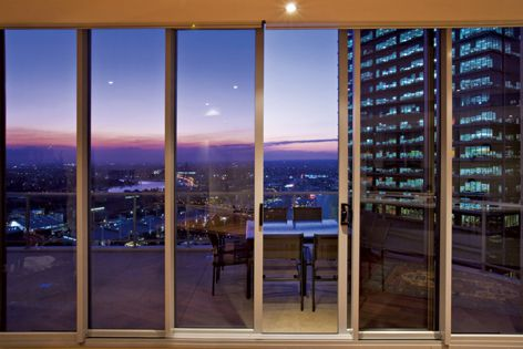 Expansive openings can be created with the Alspec Altitude sliding door.