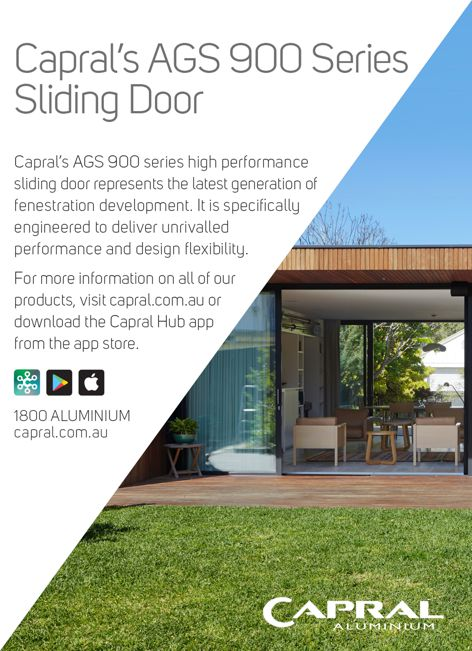 AGS 900 Series sliding door by Capral