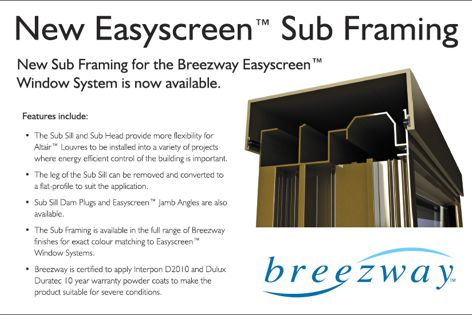 Easyscreen sub framing by Breezway