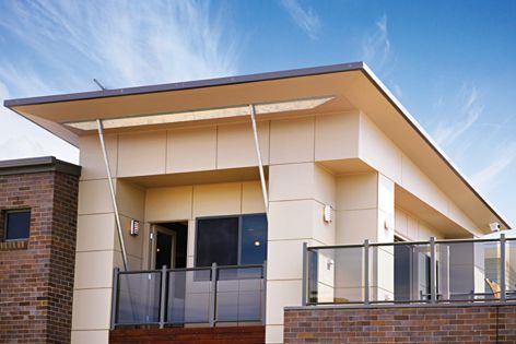 A modern look for residential applications can be achieved using Scyon Matrix cladding.