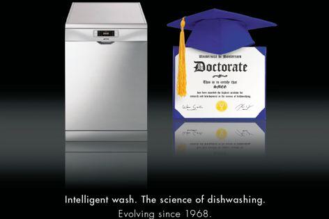 Intelligent dishwashing by Smeg