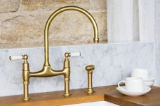 Perrin & Rowe satin brass tapware