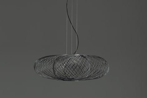 Anwar is a light by Parachilna that features a metal woven shell.