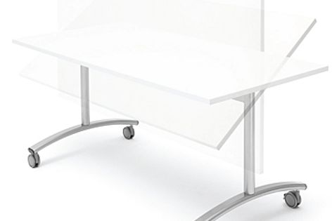 Häfele's new flip mechanism for tables prioritizes easy storage and flexibility.