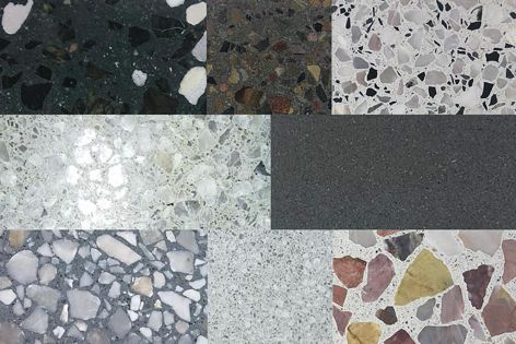 Offered in a wide selection of design options, this range of terrazzo tiling and overlay products can be used to create a unique look.