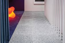 Storm terrazzo tiles featured at 80s Beach House