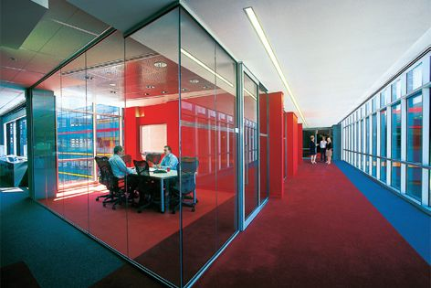 A sound-dampening interlayer reduces noise in offices, apartments, hospitals and even airports.