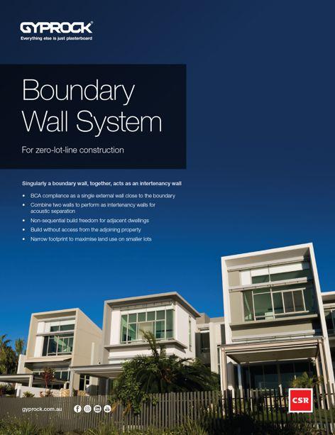 Boundary wall system by CSR Gyprock
