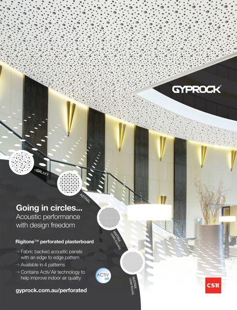 Rigitone plasterboard by Gyprock