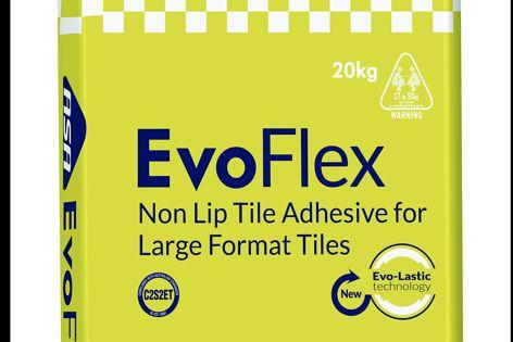 EvoFlex is a high-performance non-lip floor tile adhesive.