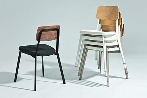 New to the Dix collection is the Sprint stacking chair (pictured) and stool.