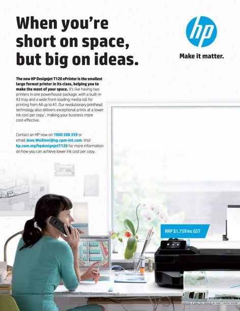 HP Designjet T120 ePrinter from Hewlett Packard