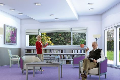 Heterogeneous vinyl walls and floors can be combined to provide healthcare solutions.