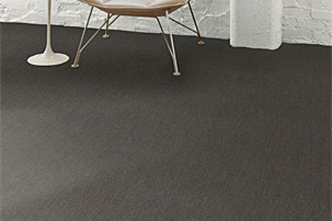 Spun carpet flooring is available in various recycled backings.