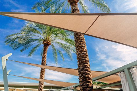 Sunbrella Contour is a rich, knit-textured fabric ideal for shade sails.
