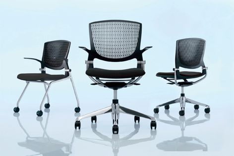 Swivel and four-legged versions of UCI's Grata chair are now available.