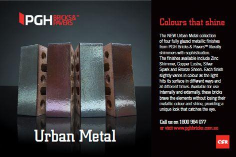 Urban Metal from CSR PGH Bricks & Pavers