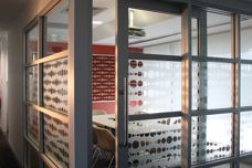 Lateral decorative window films