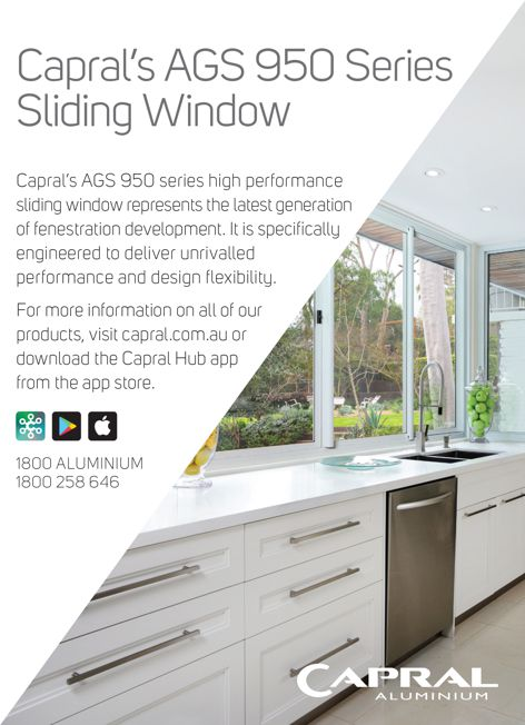 AGS 950 Series sliding window by Capral