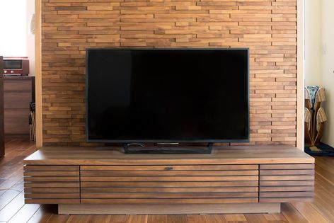 Artisan Collection wood panels were specified for this striking feature wall.