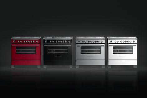 Fisher and Paykel's Freestanding Classic Cookers are available in stainless steel or in heritage-inspired black, white or red.