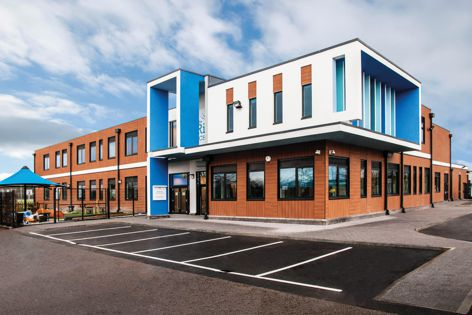 Trespa Pura, available in Australia from HVG Facade Solutions, was used for the facade of The Rise School in London, designed by Bluesky.