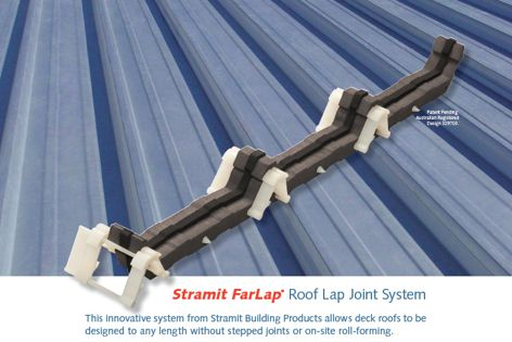 Stramit FarLap roof lap joint system