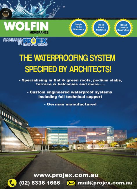 Wolfin waterproofing system from Projex Group