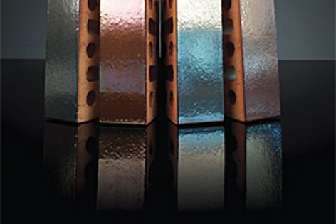Four  metallic finishes are available in the Urban Metal collection from PGH Bricks & Pavers.
