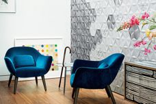 Frozen Garden tile finishes from Bisazza