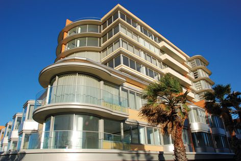 The Bondi apartment development features curved glass from Bent and Curved Glass.