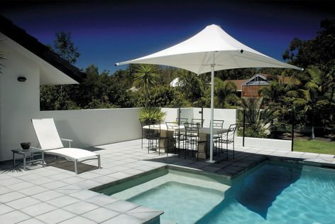 MakMax architectural umbrellas come in sizes from 2.1 to 12 metres.