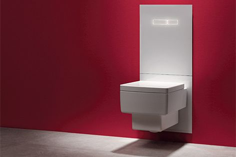 The TECElux toilet terminal features easy height adjustment, a night light and an odour exhaust.