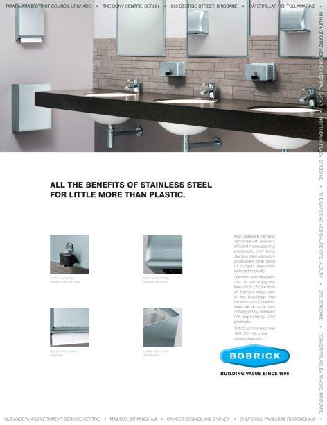 Washroom accessories from Bobrick