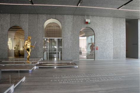 ALUSION™ stablilized aluminium foam was used in the new Milan venue of Fondazione Prada, the contemporary arts and culture organization established by Prada. Artwork: Cast of Apollo of Kassel figure, Serial Classic exhibition (2015).